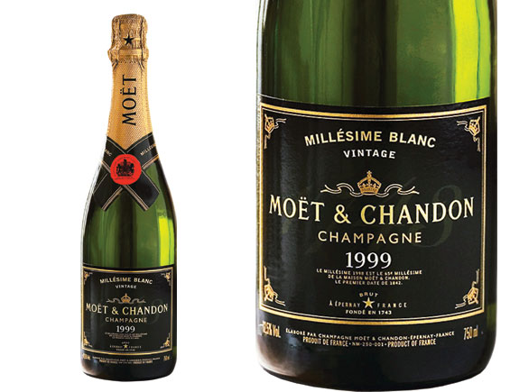 champagne mo t et chandon moet mill sim blanc 1999 wine of champagne. Black Bedroom Furniture Sets. Home Design Ideas