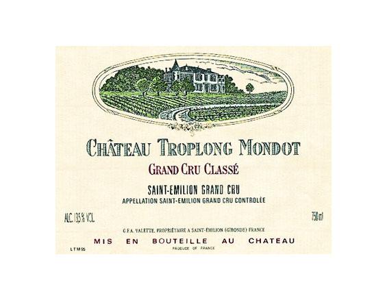 CHATEAU TROPLONG MONDOT rouge 1990