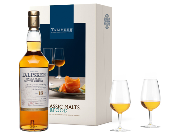COFFRET MALTS AND FOOD WHISKY TALISKER 18 ANS