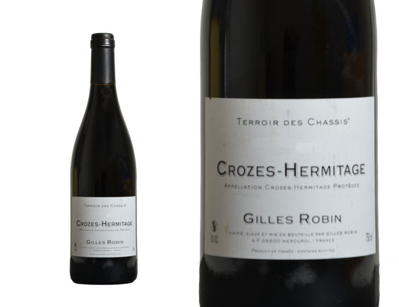 DOMAINE GILLES ROBIN CROZES-HERMITAGE TERROIR DES CHASSIS 2012 Rouge