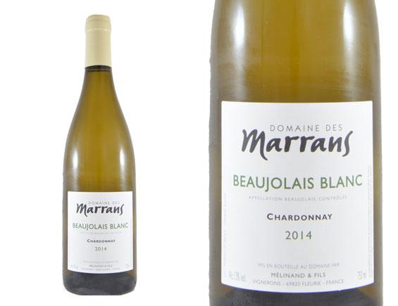 DOMAINE DES MARRANS BEAUJOLAIS CHARDONNAY BLANC 2014