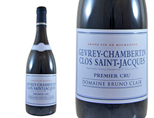 DOMAINE BRUNO CLAIR GEVREY-CHAMBERTIN 1ER CRU CLOS SAINT JACQUES ROUGE 2015