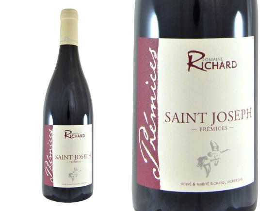 DOMAINE RICHARD SAINT-JOSEPH PRÉMICES ROUGE 2015