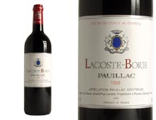 LACOSTE-BORIE red 1999, Second wine of Ch�teau Grand-Puy Lacoste
