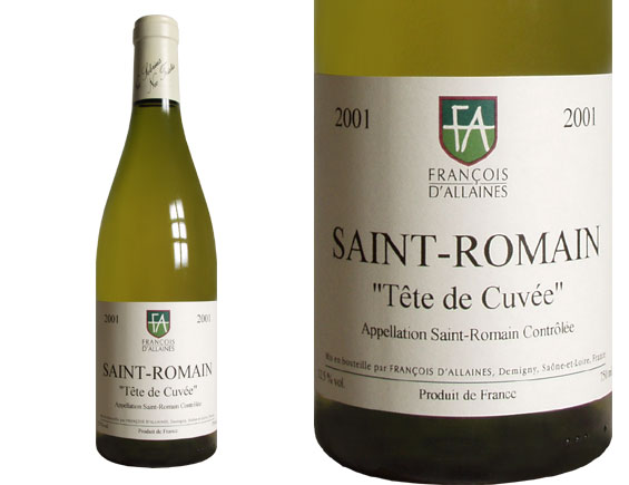 FRANCOIS D'ALLAINES SAINT-ROMAIN ''Tête de cuvée'' blanc 2001