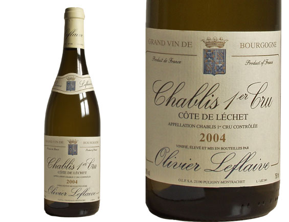 CHABLIS 1er CRU ''CÔTE DE LÉCHET'' 2004 blanc