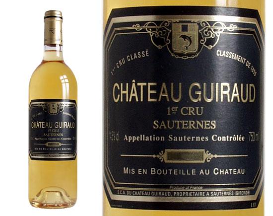 CHÂTEAU GUIRAUD blanc liquoreux 1996, Premier Cru Classé en 1855