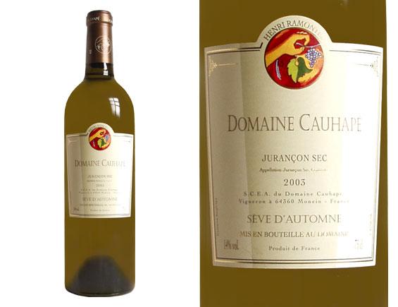 DOMAINE CAUHAPE SÈVE D'AUTOMNE blanc sec 2003