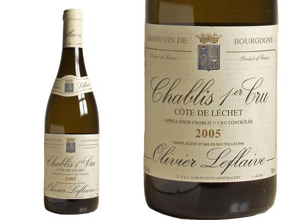 CHABLIS 1er CRU ''CÔTE DE LÉCHET'' 2005 blanc