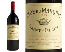 CLOS DU MARQUIS rouge 1993, Second vin du Château Léoville Las Cases